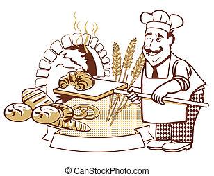 panadero, horno