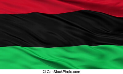 Panafrican Unia Afro American Black Liberation Flag Closeup Seamless Loop