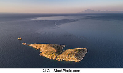 panagia, île, dans, thassos, grèce