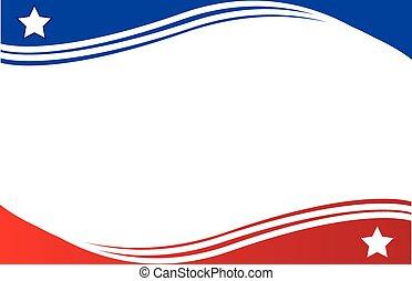 panamá, postal, frontera, bandera