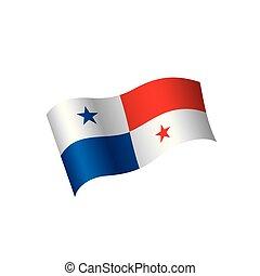panamá, vector, bandera, ilustración