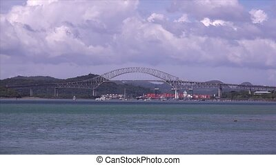 Panama City Canal Bridge - Panama City and the Canal. View...