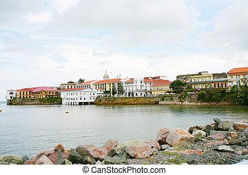 Panama city Casco viejo old colonial houses