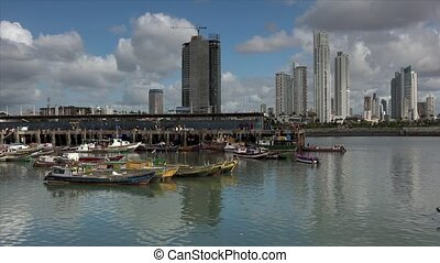 Panama City Fishers Fishing Boats - Panama City, view of the...