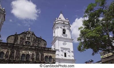 Panama City Time Lapse Cathedral - Panama City, Central...