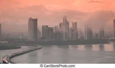 Panama City Traffic And Cars - Central America and emerging...