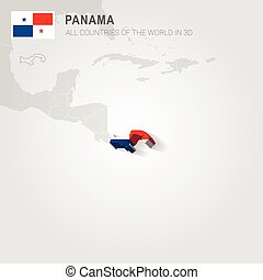 Gray panama map Administrative divisions of panama vectors