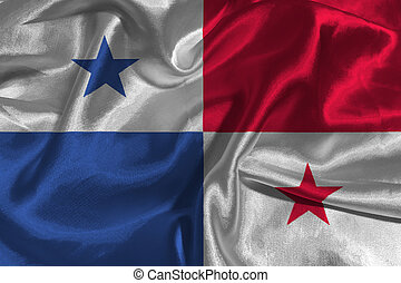 Panama flag 3D illustration symbol.