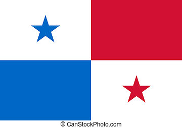 Panama Flag - Sovereign state flag of country of Panama in...
