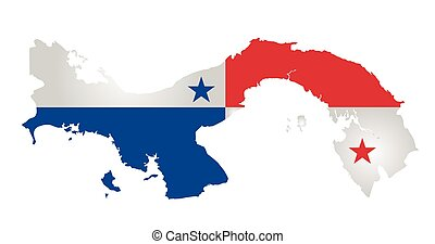 Panama Flag - Flag of the Republic of Panama overlaid on...