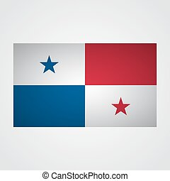 Panama flag on a gray background. Vector illustration