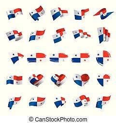 Panama flag, vector illustration on a white background