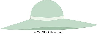 Panama hat vector illustration. - Woman panama hat isolated...