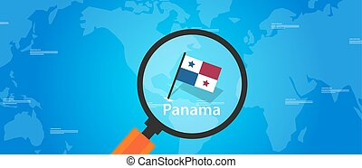 panama map world location flag