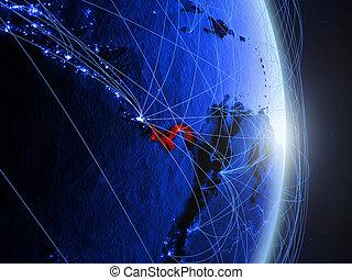 Panama on blue blue digital Earth