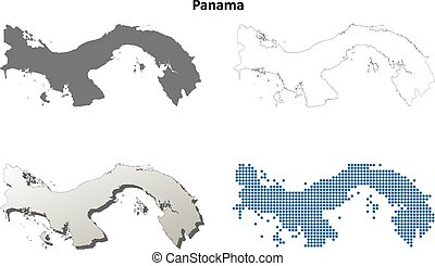 Outline panama map Administrative divisions of panama clip art