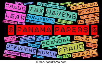 Panama papers word cloud concept