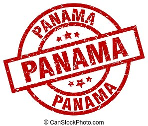 panama papers red stamp grunge sign