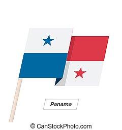 Panama Ribbon Waving Flag Isolated on White. Vector ...