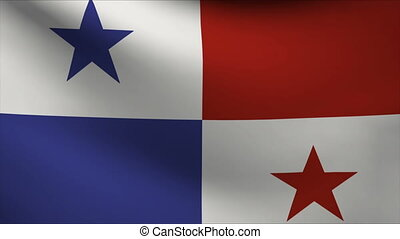 panama flag waving gently in wind