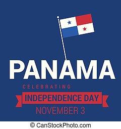 panama, vector, ontwerp, dag, onafhankelijkheid