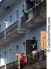 Panama Viejo Balconies - balconies details at Casco Viejo,...