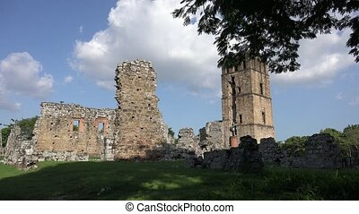 Panama Viejo Tower And Ruins Of Old City - Panama City,...
