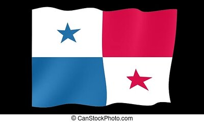 Panamanian flag. Waving
