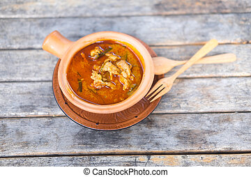 Panang pork curry, Thailand famous food