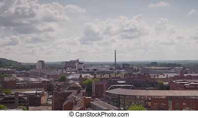 Panarama of the medium sized city - A left to right panning ...