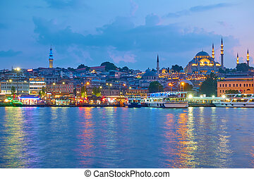 Old town of Istanbul - Panarama of the Old town of Istanbul...