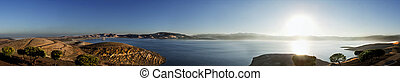 Reservoir - Panaramic view of San Lois Reservoir in ...