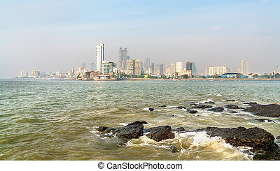 Panaroma of Mumbai from Haji Ali Dargah. India - Panaroma of...