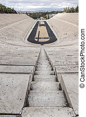 Panathenaic stadium or kallimarmaro in Athens, Attica,...