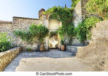 Panayia Pantanassa monastery at Mystras in Greece - The ...