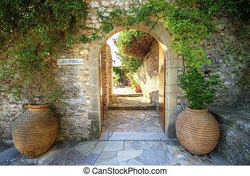 Panayia Pantanassa monastery, Mystras, Greece - The entrance...