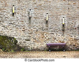 Panca pietra finestra sotto muro pietra casa sotto panca tradizionale pedraza finestra - Panca sotto finestra ...