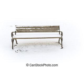 panca, inverno, senery, nevoso