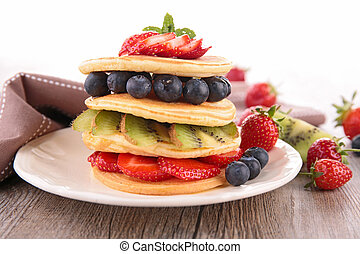pancake and berry fruit