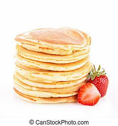 pancake and strawberry