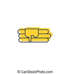 Pancake icon, doodle style