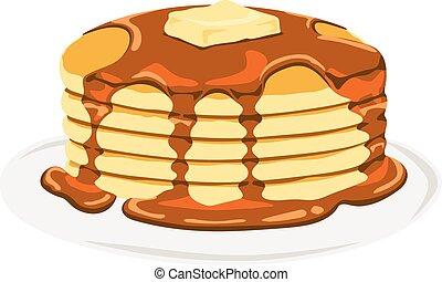 pancake illustrations and clip art 5 524 pancake royalty free rh canstockphoto com pancake clip art breakfast pancakes clip art free