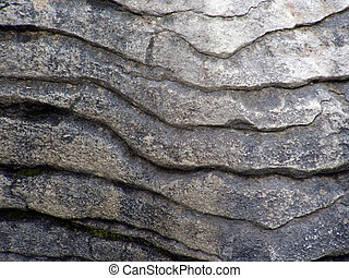 Pancake rock up close