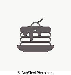 pancake vector icon