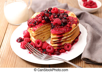 pancake with berry fruit
