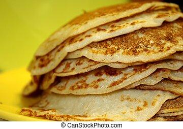 Pancakes - A stack of homemade pancakes