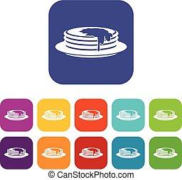 Pancakes icons set