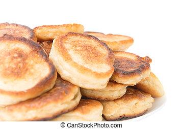 Pancakes isolated on white background