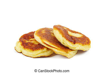Pancakes isolated on white background