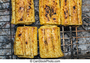 pancakes on the grill - pancakes grilled on the grill with ...